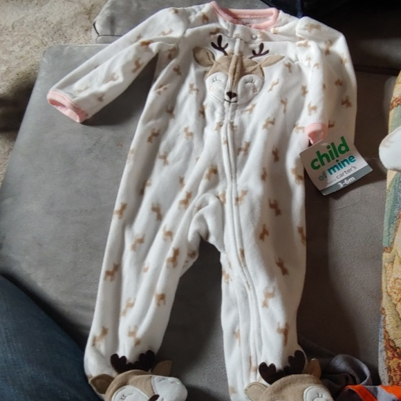 Carter/'s Child of Mine Infant Footed Sleeper Lion Choose Size 0-3m or 3-6m  NEW